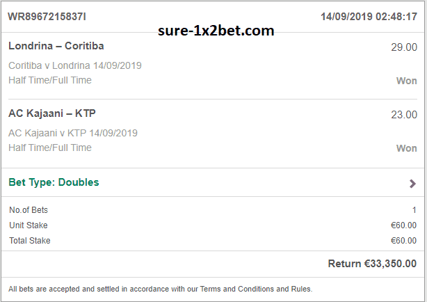 double ht ft bets 1x2