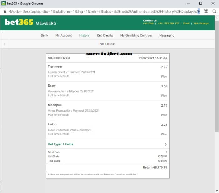 sure win fixed bets