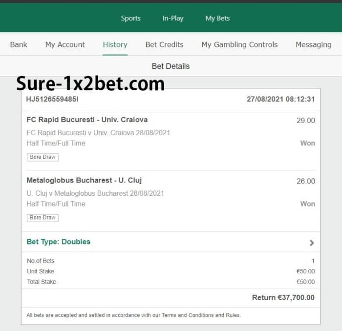 double fixed bet big odds